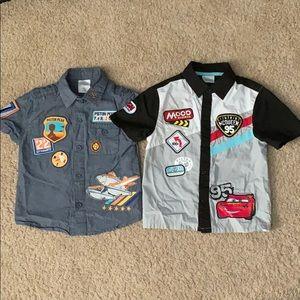2 lightning mcqueen boy shirts